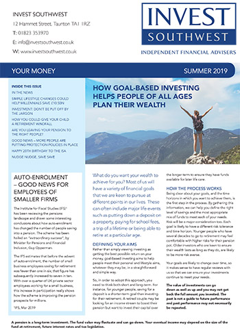 Invest Southwest Summer 2019 Your Money